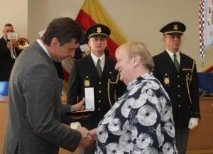 Udílení záslužných medailí (29. 11. 2016)